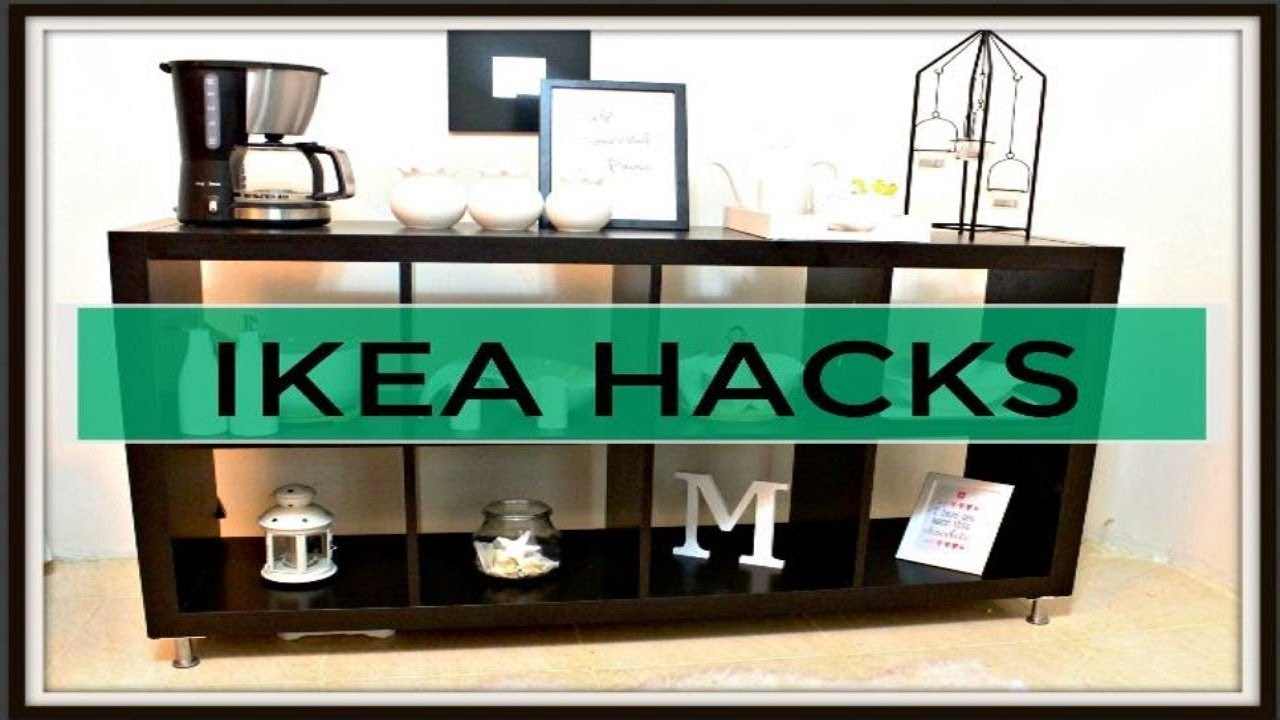 Credenza Billy Ikea : Ikea hack how to turn bookshelf into buffet table youtube