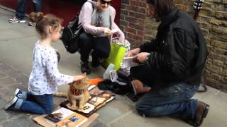 A Street Cat named Bob - signing books with James Bowen