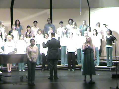 """Interlake Highschool Choir singing """"Rock-a my soul"""" May 2009"""