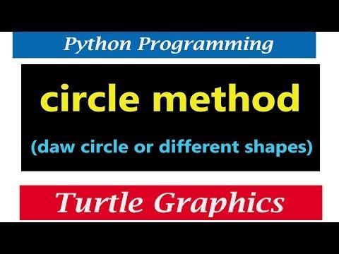 Draw Circle Shape using Python Turtle Graphics | Amuls Academy