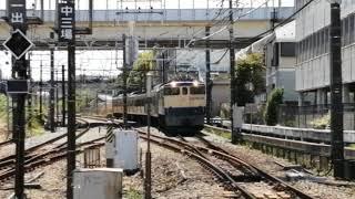 【武蔵境への新101系赤電甲種輸送!】西武新101系甲種輸送261F EF65-2087牽引中央線日野駅通過