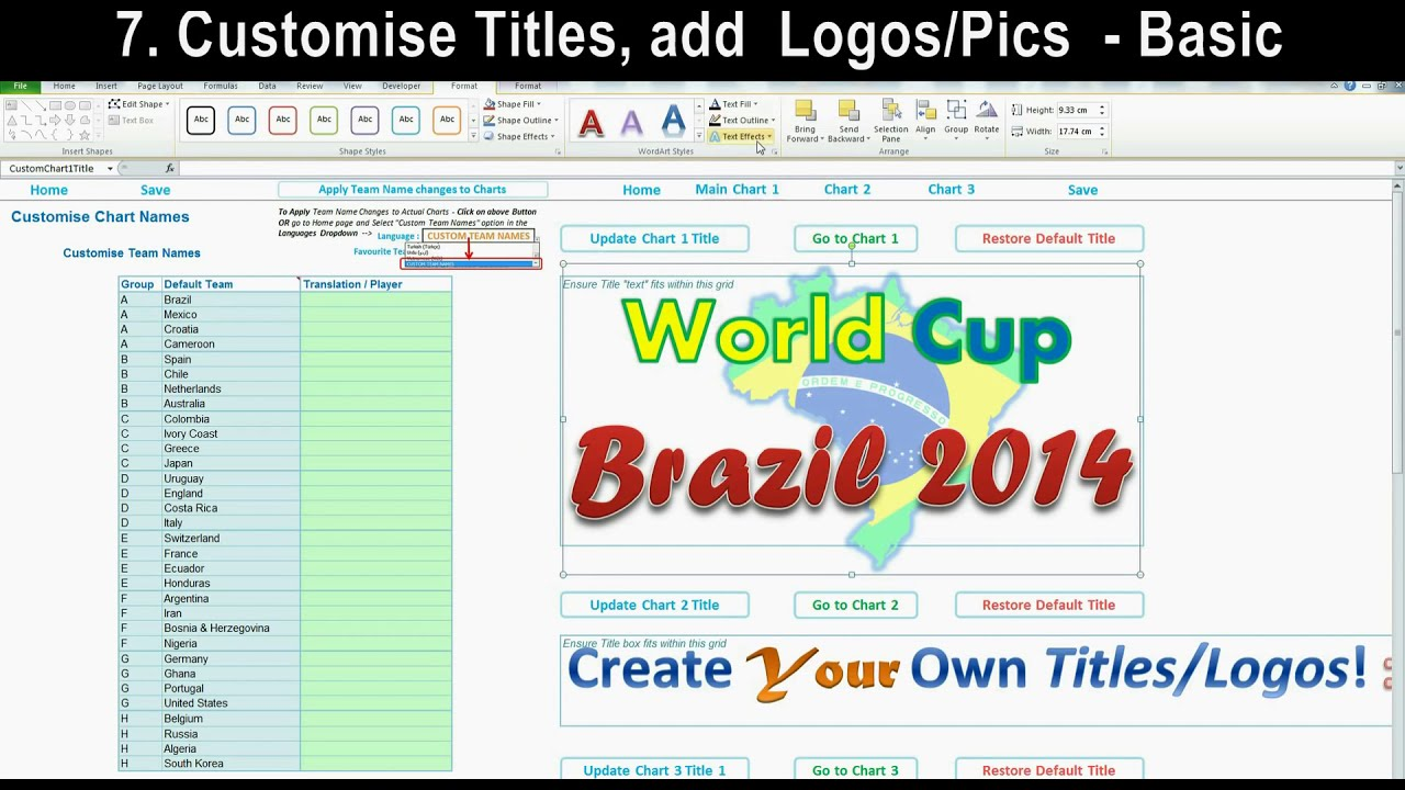 Excel World Cup 2014 B...