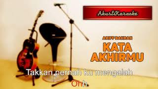 Download lagu Ariff Bahran - Kata Akhirmu