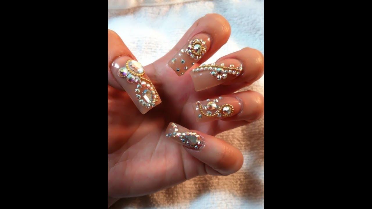 sinaloa style acrylic nails decoden