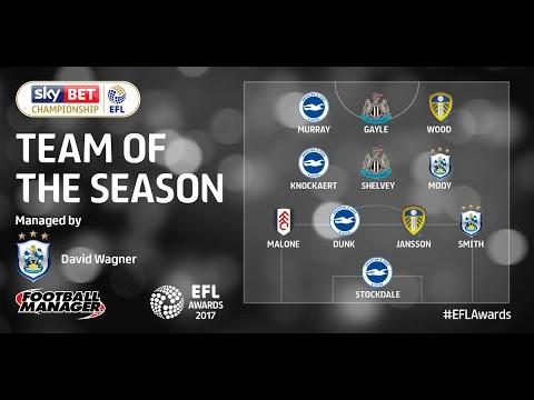 The EFL Championship team of the season - 2016/17