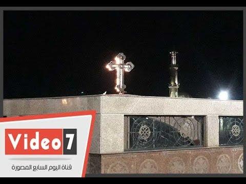 الجامع بجوار الكنيسة.. فى عيد الغطاس ببورسعيد