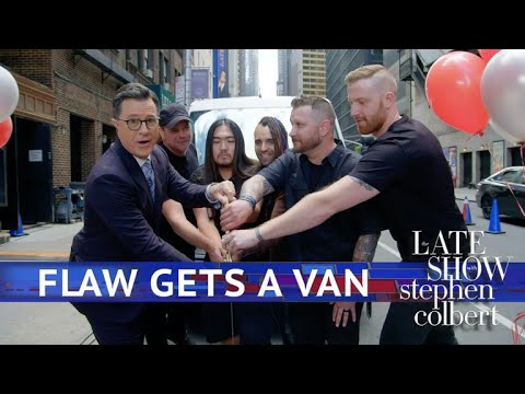 Watch Stephen Colbert Buy New Tour Van for Nu-Metal Band