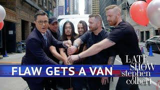 Stephen Buys A Van For The Rock Group FLAW