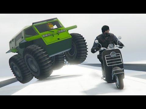ZHABA vs MOTOS! CORRE O TE ATROPELLO! - GTA V ONLINE - GTA 5 ONLINE