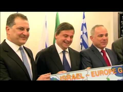 Energy ministers from Israel , Cyprus , Greece and Italy sign natural gas agreement (REUTERS)