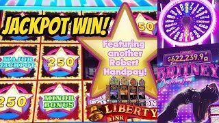 HANDPAY JACKPOT-LIBERTY LINK-NEW BRITNEY SPEARS GAME