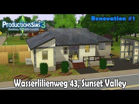 Die Sims 3 - House Renovation #1 - Wasserlilienweg 43, Sunset Valley