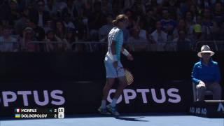 2017.01.19 - Теннис - Australian Open. Мужчины. А. Долгополов (Украина) - Г. Монфис (Франция)