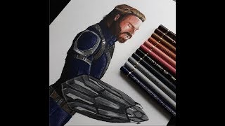 Drawing Captain America NOMAD