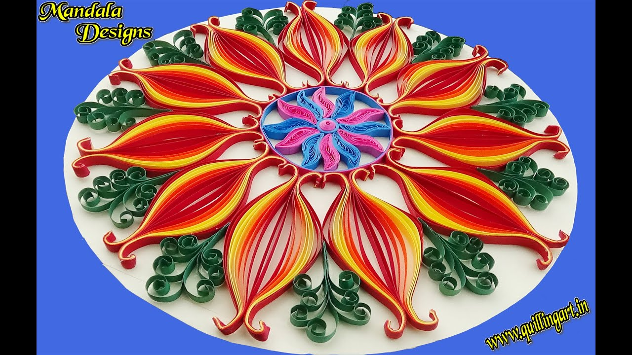 Paper quilling how to make beautiful mandala designs by for Easy quilling designs step by step