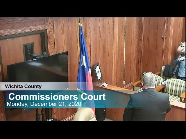 Commissioners Court 12/21/2020