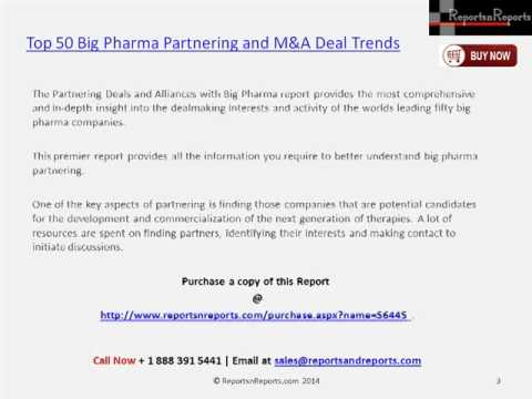 Top 50 Big Pharma Partnering and M&A Market Research Report
