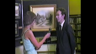 Oadby History in Painting Local Artist Geoffrey Herickx.  Oadby Leicestershire 1981