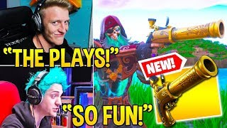"STREAMERS *GO CRAZY* USING *NEW* ""FLINT-KNOCK PISTOL!"" (VERY USEFUL) - Fortnite Moments thumbnail"