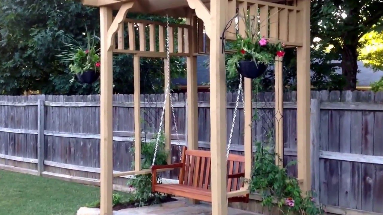 backyard makeover by bj u0027s home improvement pergola swing deck