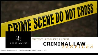 RC & CO LAWYERS | Criminal Law Services