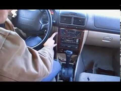 how to remove and replace car stereo on subaru forester