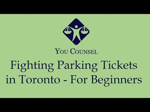 Fighting Parking Tickets in Toronto - For Beginners