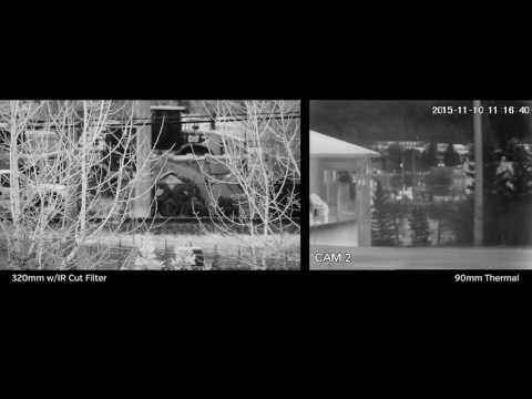 Best Thermal  security night vision infrared surveillance camera HD & LWIR uncooled + NIR HD PTZ