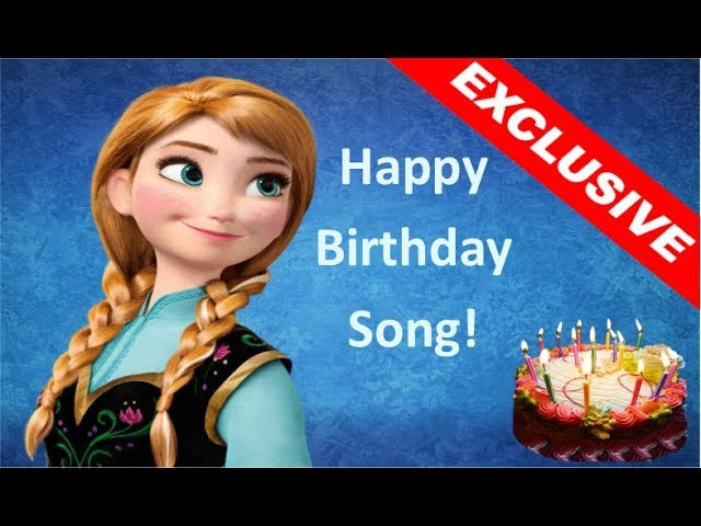 Frozen Anna Happy Birthday Song Surprise Frozen Party Youtube
