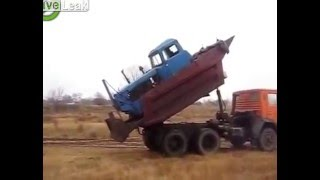 Crazy Russian shows how to transport your Dozer!