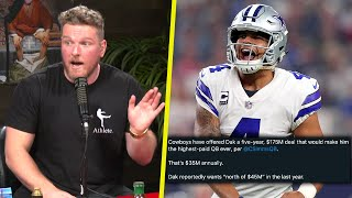 Pat McAfee Reacts To Dak Prescott's New Contract Offer