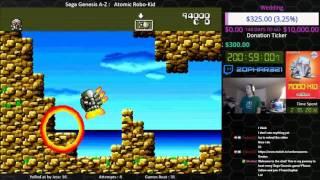 Sega Genesis A Z : Atomic Robo Kid (journey To Beat Every Sega Genesis Game) Day 2 1