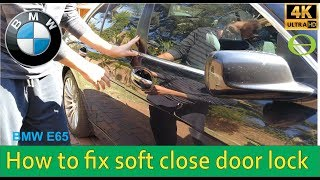 How to fix soft close door lock on a BMW - step by step repair screenshot 3
