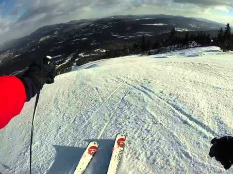 GoPro video of Skiing White Heat, New Years Day, Sunday River, ME