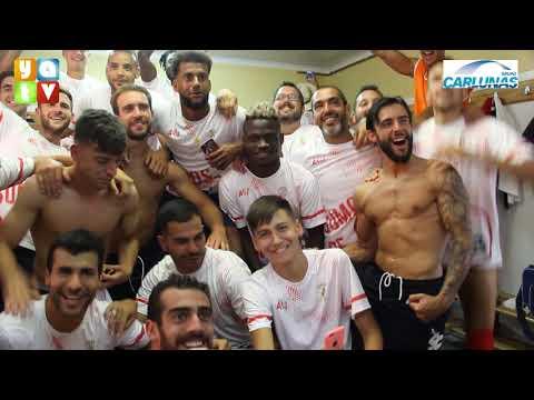 Celebración de los jugadores del Algeciras CF por el Ascenso a Segunda B