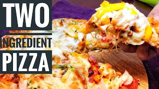 2 ingredient #pizza#dough|best homemade pizza ever|pizza in 30min|failproof|pizzarecipe|no yeast/oil