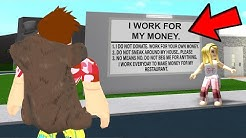 She Was HARD WORKING.. So I Made Her A Millionaire.. (Roblox)