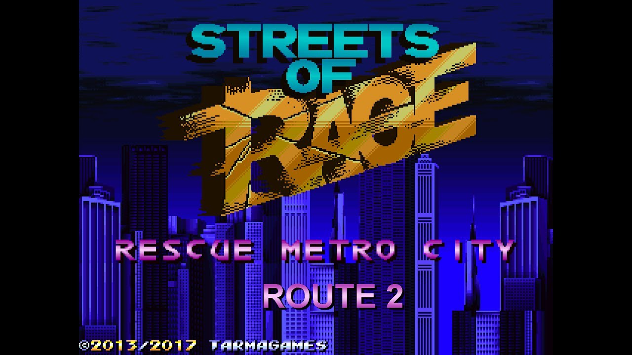 streets of rage remake rescue metro city v3 route 2 with