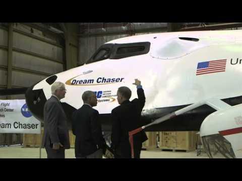 NASA Chief Flies Dream Chaser Spacecraft Simulator   Space Science Video