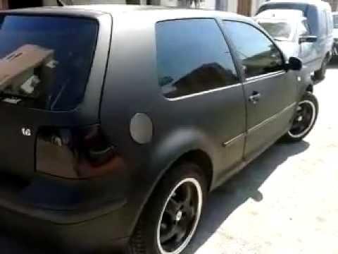 Car Wrapping 3m Greece Vw Golf Black Matte Rebuild By