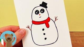 Come Disegnare Una Pupazzo Di Neve Kawaii Per Bambini Disegni Da