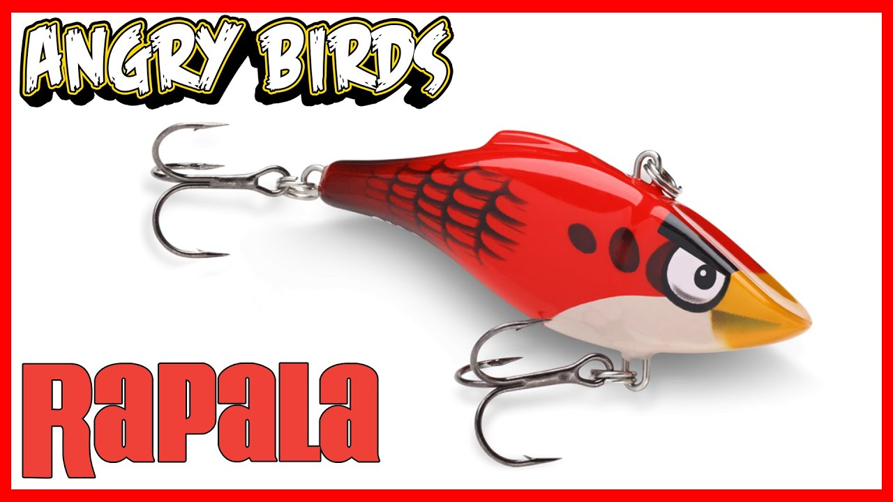 "rapala angry birds fishing lure [unboxing] ""rattlin' red bird, Reel Combo"