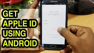 How To create an Apple ID using Android Smartphone