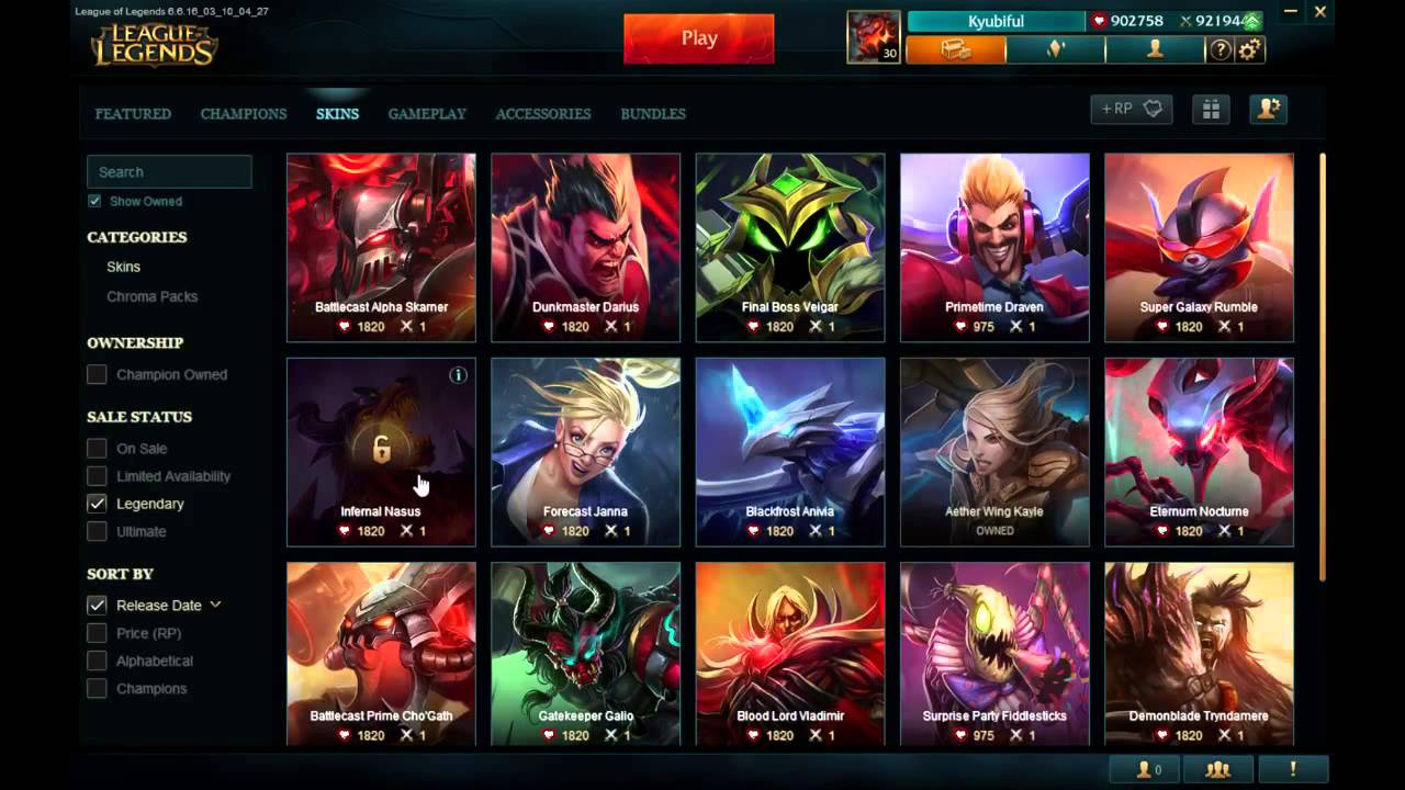 League of Legends PBE Account - YouTube