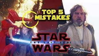 STAR WARS: THE LAST JEDI - Top 5 Movie Mistakes (2017) Mark Hamill, Carrie Fisher, Rian Johnson film