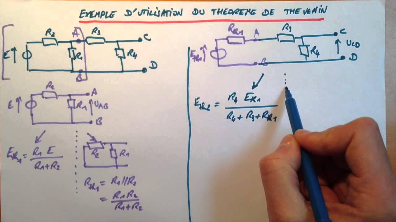 Exemple Dutilisation Du Thorme De Thvenin Youtube Schma Lectrique Wiring Diagram Explication Solution Le
