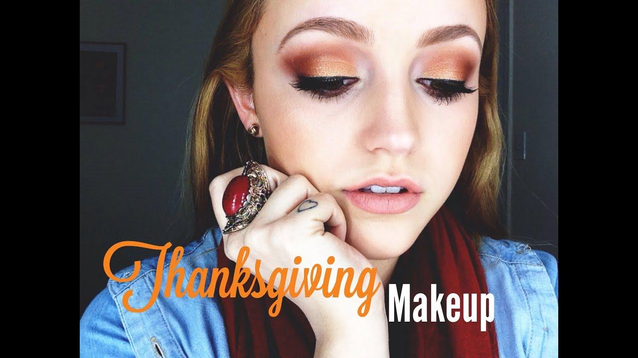 Thanksgiving Makeup Tutorial - YouTube
