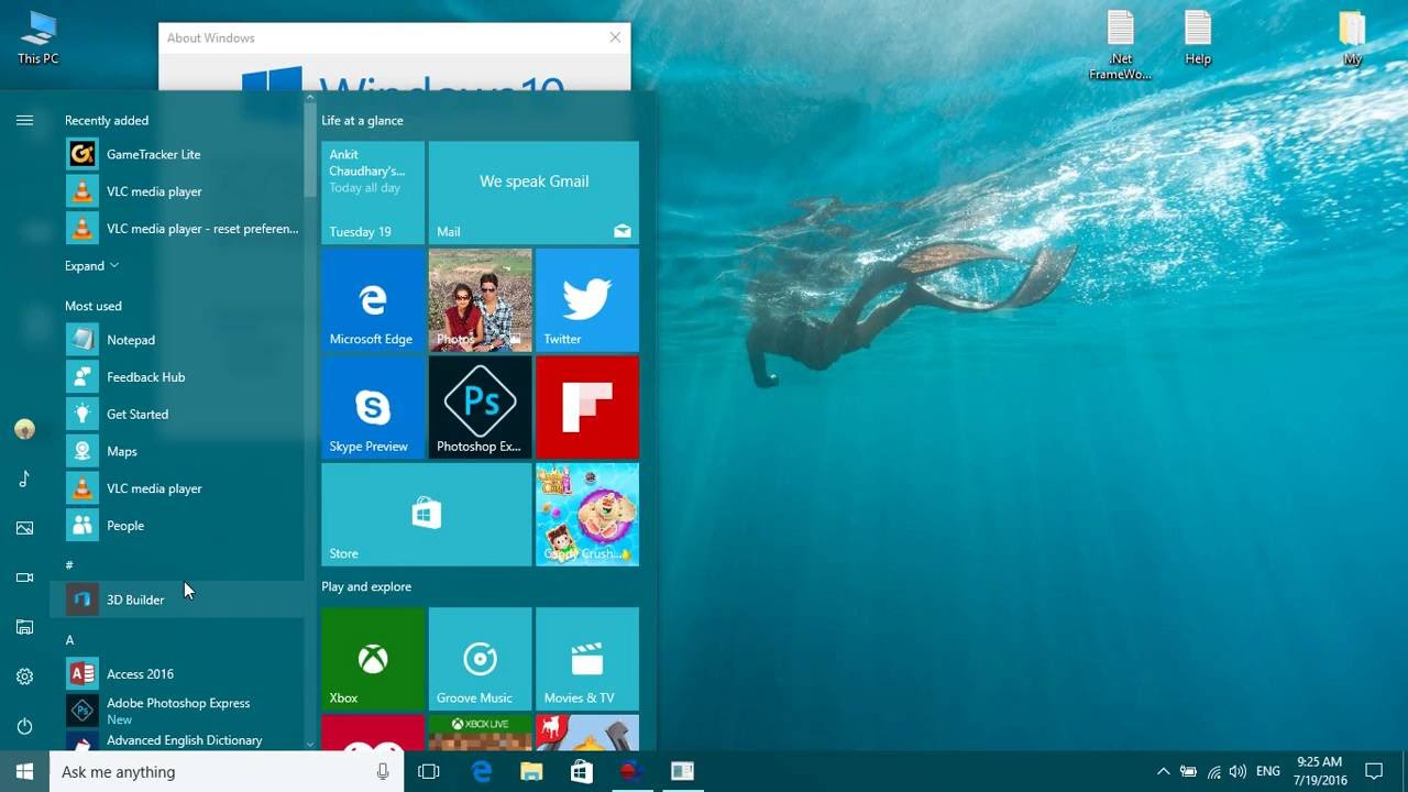 Windows 10 build 14393