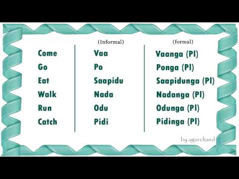 Learn Tamil through English - Simple Words 02!
