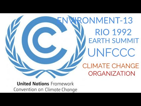 UNFCCC: RIO SUMMIT 1992   IMPORTANT ORGANISATION OF CLIMATE CHANGE